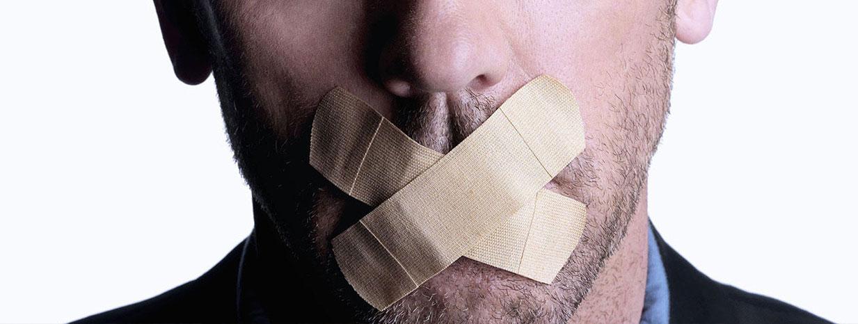 سکوت در برابر دروغ